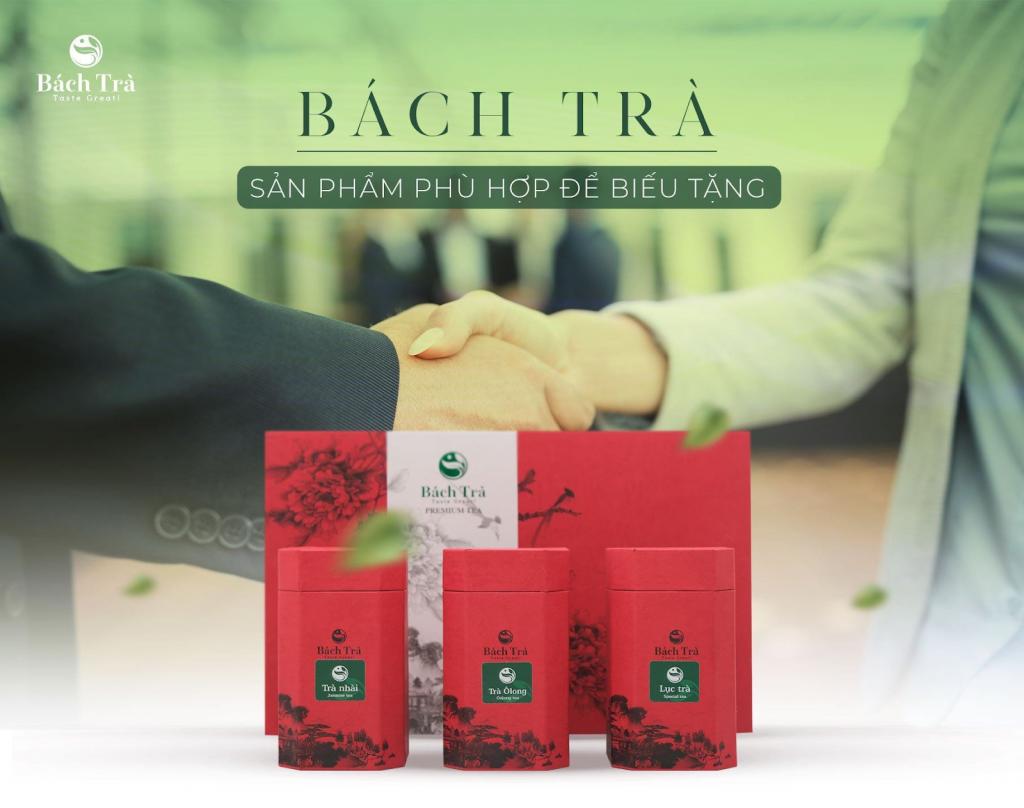 (Các loại trà của Bách Trà được chế biến tỉ mỉ, đựng trong hộp giấy thiết kế sang trọng)