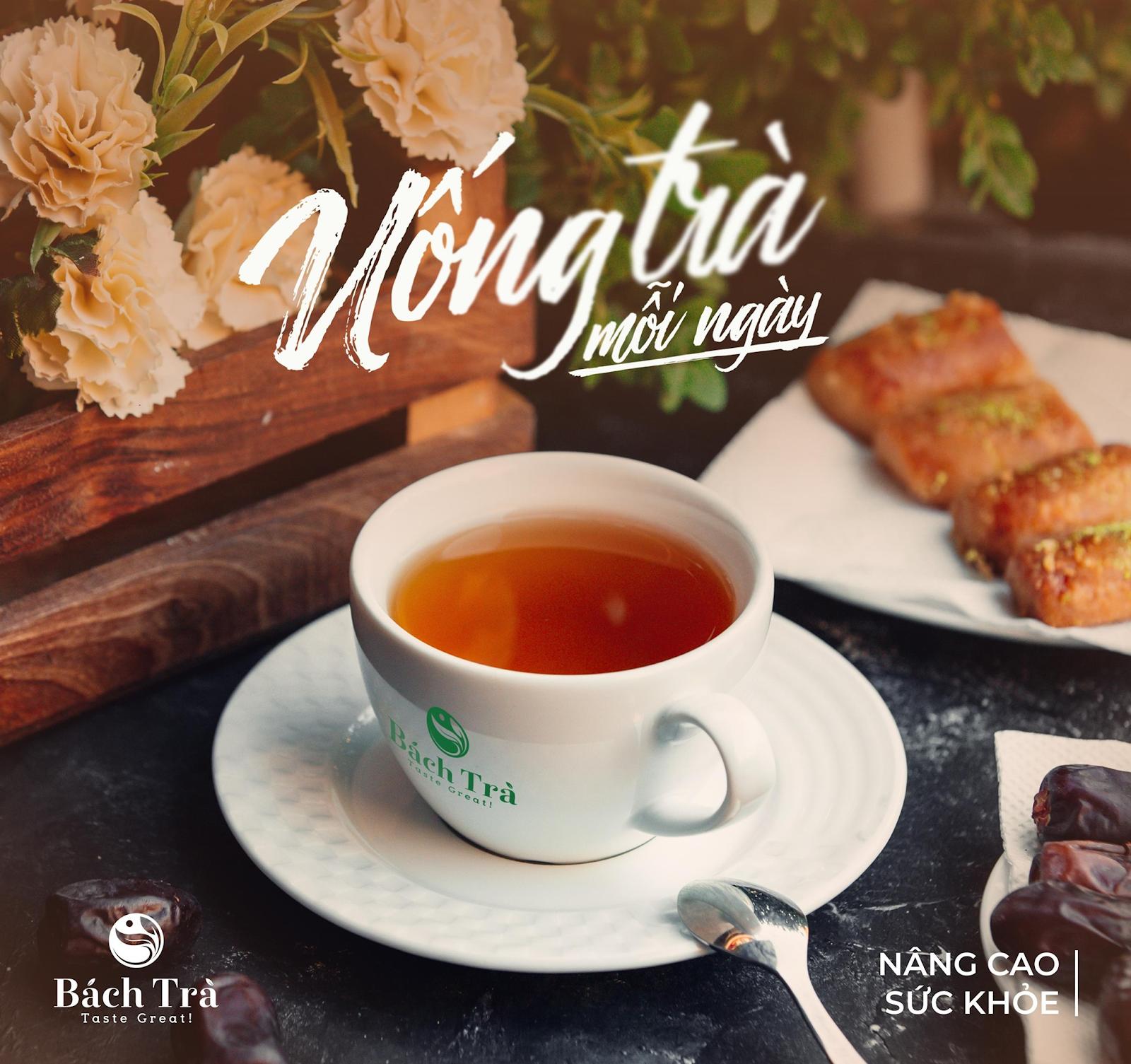 (Uống trà hàng ngày rất có lợi cho sức khỏe)